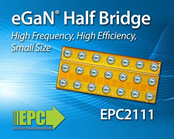 宜普电源转换公司(EPC)推出高频单片式氮化镓半桥功率晶体管,推动12 V转至1.8 V系统在5 MHz、14 A输出电流实现超过85%效率
