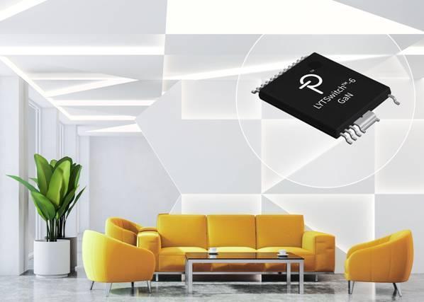Power Integrations推出全新LYTSwitch-6 LED驱动器IC - 采用PowiGaN技术,可提供优异的功率密度和效率